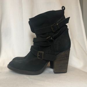 Western inspired heeled boots